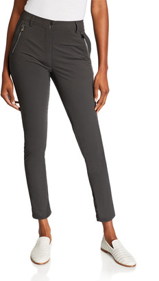 Anatomie Gail High-Rise Ankle Pants with Zipper Pockets