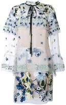 Erdem embroidered flowers dress