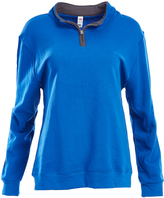 Fruit of the Loom Royal Blue & Charcoal Quarter-Zip Pullover - Women