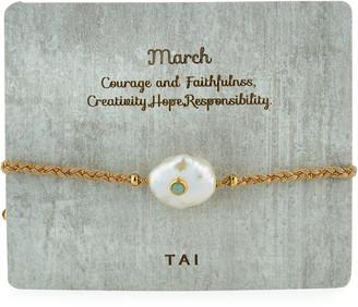 Tai Baroque Pearl Handmade Birthstone Bracelet
