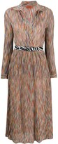 Missoni wrap style front silk shirt dress