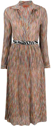 Missoni Wrap Style Front Silk Shirt Dress
