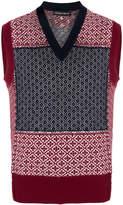 Alexander McQueen Fair Isle knitted vest