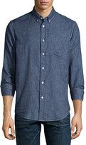 Rag & Bone Yokohama Check Button-Down Shirt, Indigo