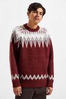 UO Brushed Fair Isle Crew Neck Sweater