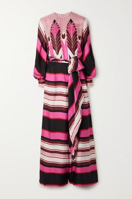 Valentino Printed Silk Crepe De Chine Jumpsuit - Pink