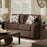 """Thumbnail for your product : Winston Porter McGugin 61"""" Round Arm Loveseat"""