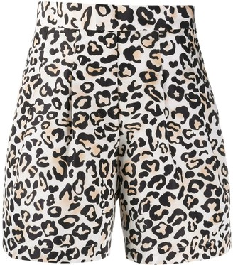 Ermanno Ermanno high-waisted leopard print shorts