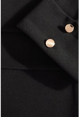 Quiz Black Scuba Crepe Gold Button Blazer Jacket
