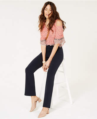 Style&Co. Style & Co Mid Rise Pull-On Tummy-Control Pants