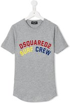 DSQUARED2 logo print T-shirt - kids - Cotton - 16 yrs