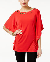 MICHAEL Michael Kors Embellished Poncho Top