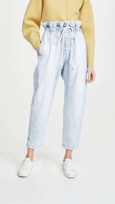 Bassike Denim Paperbag Pants
