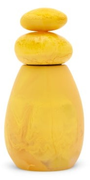 Dinosaur Designs Boulder Marbled-resin Pepper Mill - Yellow