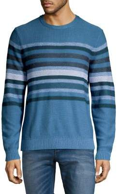 Black & Brown Black Brown Banded Stripe Cotton Sweater