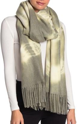 Cara Accessories Super Soft Tie-Dye Fringe Wrap Scarf