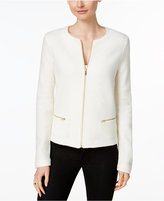 Charter Club Wool Zip-Front Cardigan, Only at Macy's