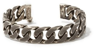 Alexander McQueen Engraved Chain-link Cuff - Silver