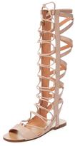 Sigerson Morrison Bright Leather Gladiator Sandal