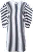 MSGM square sleeve striped dress - women - Cotton - 40