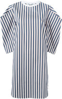 MSGM square sleeve striped dress