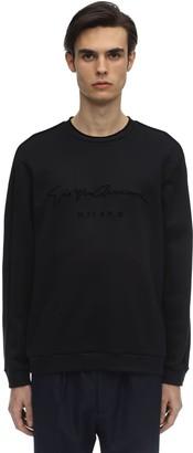 Giorgio Armani Logo Signature Modal Blend Sweater