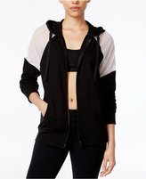 Material Girl Active Juniors' Mesh-Inset Hoodie, Created for Macy's