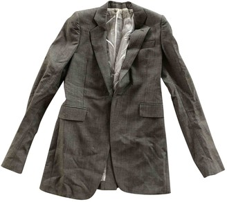 Rick Owens Grey Wool Jackets