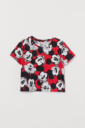 H&M Short Printed T-shirt - Red