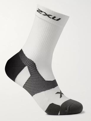 2XU Vectr Cushioned Stretch-Knit Crew Socks