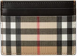 Burberry Sandon Vintage Check E-Canvas & Leather Card Case