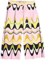 Emilio Pucci Printed Satin Cotton Wide Leg Pants