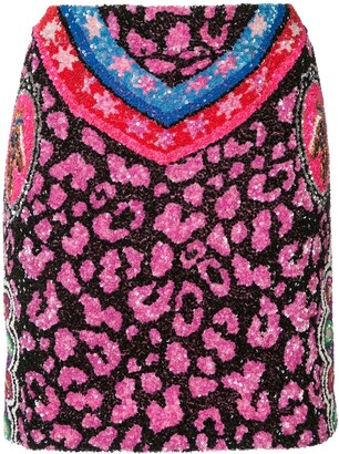 Manish Arora Sequin Mini Skirt