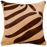 Saddlemans Zebra Pillow - Brown/Beige 18x18