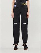 Off-White Off White C/O Virgil Abloh Logo-print straight mid-rise shell trousers