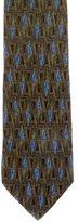 Ermenegildo Zegna Abstract Print Silk Tie