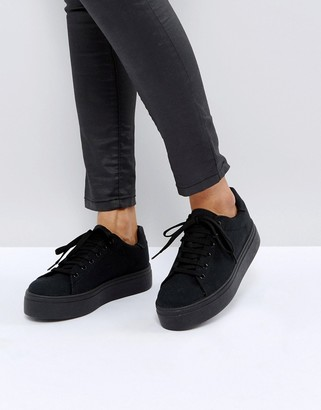 ASOS DESIGN Day light chunky flatform lace up sneakers