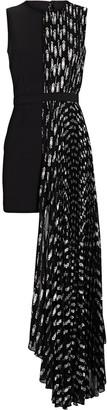 Ronny Kobo Sabrina Pleated High-Low Dress