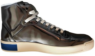 Louis Vuitton Silver Patent leather Trainers