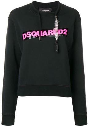 DSQUARED2 Contrast Logo Sweatshirt