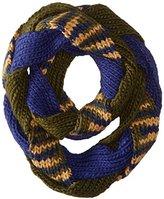 D&Y Women's Braided Stripe Knit Loop Infinity Scarf