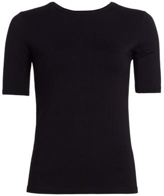 L'Agence Casey Half-Sleeve Crewneck T-Shirt