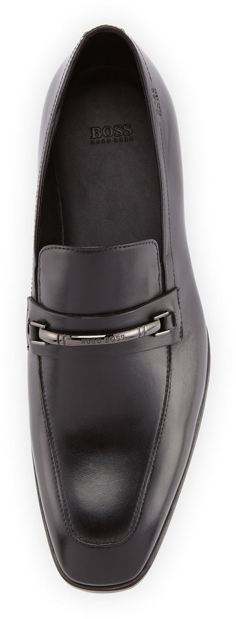 HUGO BOSS Maxinn Logo-Bar Loafer, Black