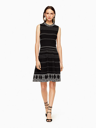 Kate Spade Textured Knit Fit And Flare Dress