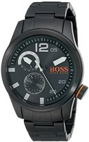 HUGO BOSS BOSS Orange Men's 1513149 Paris Analog Display Japanese Quartz Black Watch