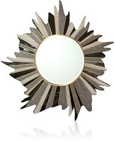 R & Y Augousti Sunburst Sunset Shagreen & Pen Shell Medium Round Wall Mirror