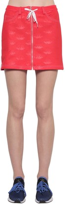 adidas Fiorucci Cotton Blend Mini Skirt