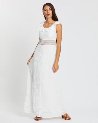 Atmos & Here Kelly Midi Ruffle Dress