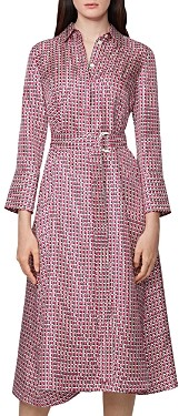 HUGO BOSS Danimala Printed Silk Shirt Dress