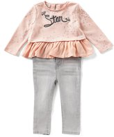 Jessica Simpson Baby Girls 12-24 Months Star-Print Ruffle Top & Jeans Set